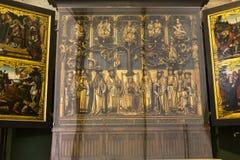 Interiors of Saint Salvator's Cathedral, Bruges, Belgium Stock Images