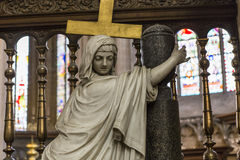 Interiors of Saint Salvator's Cathedral, Bruges, Belgium Stock Photos