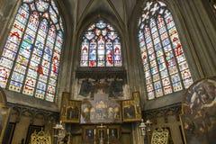 Interiors of Saint Salvator's Cathedral, Bruges, Belgium Royalty Free Stock Photos