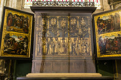 Interiors of Saint Salvator's Cathedral, Bruges, Belgium Royalty Free Stock Photography