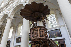 Interiors of Saint Walburga Church, Bruges, Belgique, Royalty Free Stock Photo