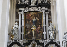 Interiors of Saint Walburga Church, Bruges, Belgique,  Royalty Free Stock Images