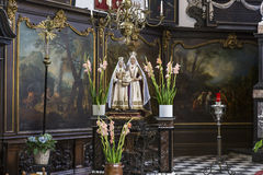 Interiors of sainte anne chrurch, Bruges, Belgium Royalty Free Stock Photography