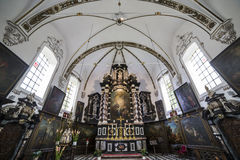 Interiors of sainte anne chrurch, Bruges, Belgium Royalty Free Stock Photos