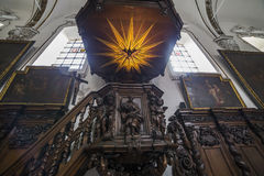 Interiors of sainte anne chrurch, Bruges, Belgium Stock Image