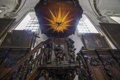 Interiors of sainte anne chrurch, Bruges, Belgium Stock Image