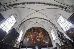 Interiors of sainte anne chrurch, Bruges, Belgium Stock Photos