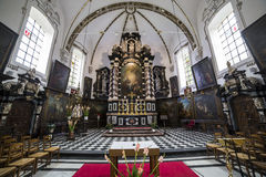Interiors of sainte anne chrurch, Bruges, Belgium Royalty Free Stock Photo