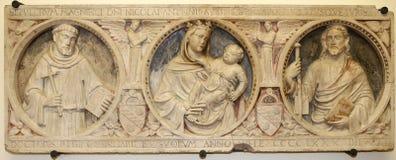 Interiors of San Lorenzo Maggiore church, Naples, Italy Stock Photo