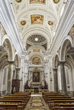 Interiors of San Martino Church in Erice, Sicily Royalty Free Stock Image