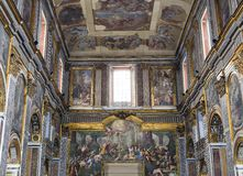 Interiors of San Paolo Maggiore church, Naples, Italy Royalty Free Stock Photography