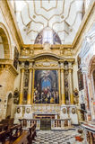 Interiors of the Sant'Agata Cathedral in Gallipoli, Italy Stock Image