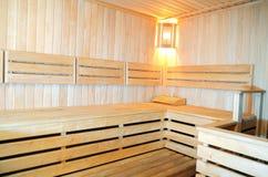 Interiors saunas Stock Image