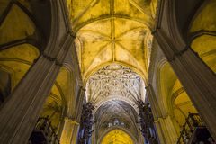 Interiors of Seville cathedral, Seville, Andalusia, spain Stock Photography