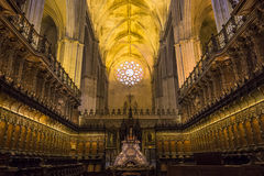 Interiors of Seville cathedral, Seville, Andalusia, spain Stock Images