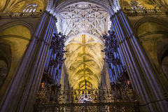 Interiors of Seville cathedral, Seville, Andalusia, spain Stock Image