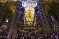 Interiors of Seville cathedral, Seville, Andalusia, spain Royalty Free Stock Photo