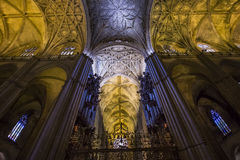 Interiors of Seville cathedral, Seville, Andalusia, spain Stock Photo
