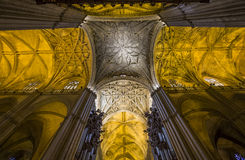 Interiors of Seville cathedral, Seville, Andalusia, spain Royalty Free Stock Image