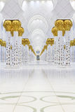 Interiors of Sheikh Zayed Mosque, Abu Dhabi Stock Photography