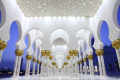 Interiors of Sheikh Zayed Mosque, Abu Dhabi Royalty Free Stock Photo