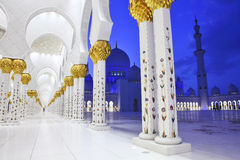 Interiors of Sheikh Zayed Mosque, Abu Dhabi Stock Photo