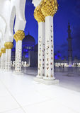 Interiors of Sheikh Zayed Mosque, Abu Dhabi Royalty Free Stock Photography