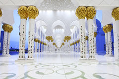 Interiors of Sheikh Zayed Mosque, Abu Dhabi Stock Photos