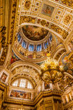 Interiors of St. Isaac Cathedral Stock Image
