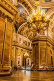 Interiors of St. Isaac Cathedral Royalty Free Stock Photos