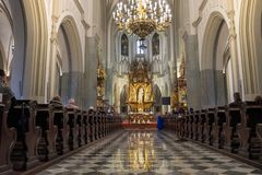 Interiors of St. Joseph Church in Podgorze, Krakow, Poland royalty free stock photo
