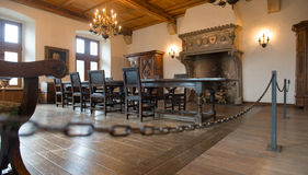 Interiors of the Vianden castle Royalty Free Stock Photo