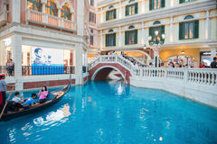 Interiors view of the Venetian Hotel Royalty Free Stock Photography