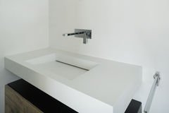 Interiors, white bathroom Stock Image
