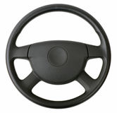 Interiortransportation de la direction wheel Images libres de droits