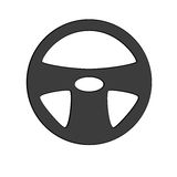 Interiortransportation de la direction wheel Images stock