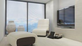 interiorvardagsrum för bild 3d Arkivbild
