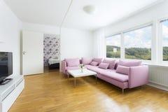 interiorvardagsrum för bild 3d Royaltyfria Bilder