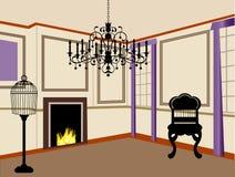 interiorvardagsrum för bild 3d Royaltyfri Fotografi