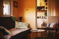 interiorvardagsrum för bild 3d Arkivbilder