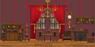 interiorvardagsrum för bild 3d royaltyfri illustrationer