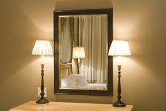 interioslampor mirror modernt Arkivbilder
