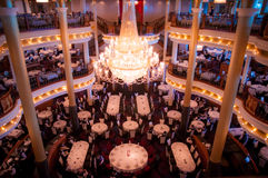 Interiour of Cruiseship - Restaurant. Restaurant onboard Navigator of the Seas taken in 2014 Stock Photos