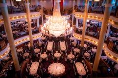 Interiour de Cruiseship - restaurante Fotos de archivo