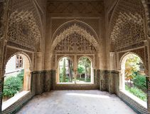 Interiour Decorations in Nasrid Palace at Alhambra Royalty Free Stock Photos