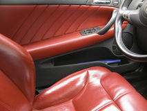 Interiour di lusso dell'automobile Immagini Stock
