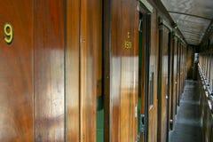 Interiro del treno della strada di Nottingham vecchio fotografia stock