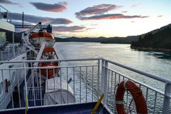 Interislander färja, Nya Zeeland royaltyfri foto