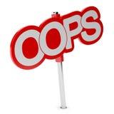 Interjeição, OOPS etiqueta ilustração do vetor