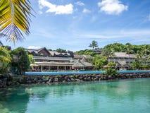 Interkontinental semesterort och Spa hotell i Papeete, Tahiti, franska Polynesien Fotografering för Bildbyråer
